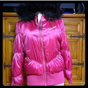 💥SALE💥 Baby Phat Pink & Black Reversible jacket